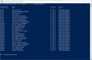 Mit Hilfe der Powershell nach Microsoft Updatessuchen und installieren