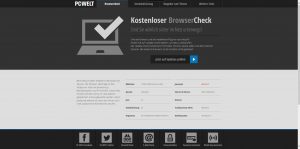 Browser Check PCWelt