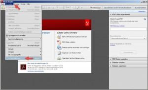 Adobe Reader letzte Seite öffnen