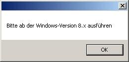 Erst ab Windows 8
