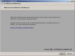 Windows Bildschirm Farbkalibrierung