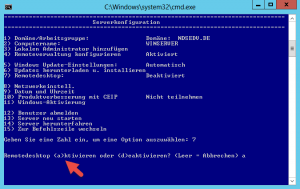 sconfig remote desktop