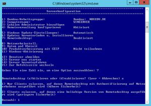sconfig remote desktop auth