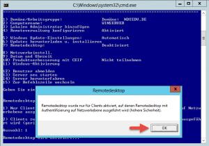 sconfig remote desktop enabled