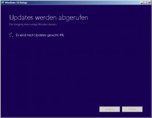 Windows 10 Updates werden abgerufen