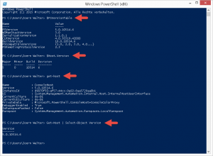 Powershell Version abfragen