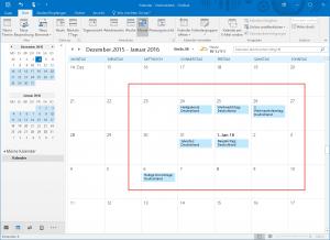 Feiertage in Outlook anzeigen 2015