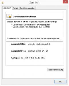 Geo Trust Der Windows Papst