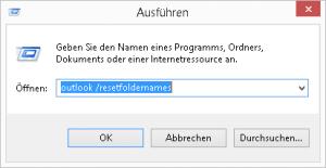Outlook ResetFolderNames