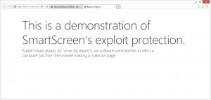 SmartScreen Exploit protection