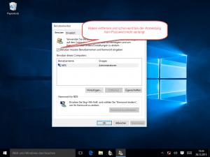 Windows 10 Benutzer müssen Benutzernamne und Kennwort eingeben