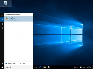 Windows 10 Cortana netplwiz