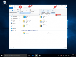 Windows 10 Explorer Ansicht Optionen