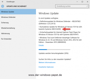 Windows 10 Update KB3124200