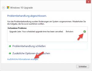 Windows 10 Upgrade Problembehandlung