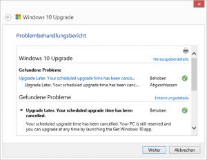 Windows 10 Upgrade Scheduled