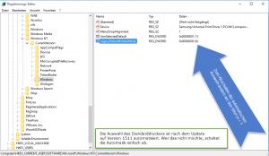 Windows 10 Version 1511 Standarddrucker Automatik deaktivieren