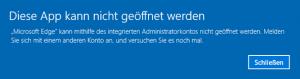 Diese App kann nicht geöffnet werden Microsoft EDGE