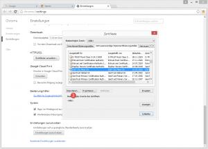 ESET Stammzertifikat Browser importieren