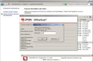 Trend Micro Office Scan lässt sich nicht deinstallieren