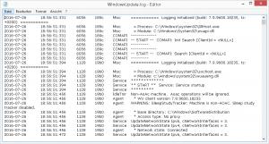 Windows Update Log