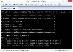 vyos VMware Installation