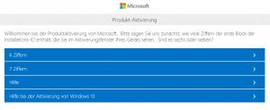 Microsoft Produkt Aktivierung