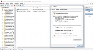 Windows 10 Self Signed Certificate Trust