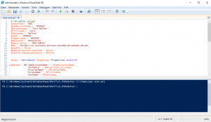 Powershell AD copy and clean User