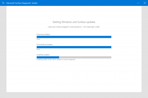 Surface Diagnostic Tool Installing Updates