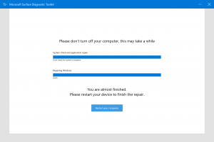 Surface Diagnostic Tool no shutdown