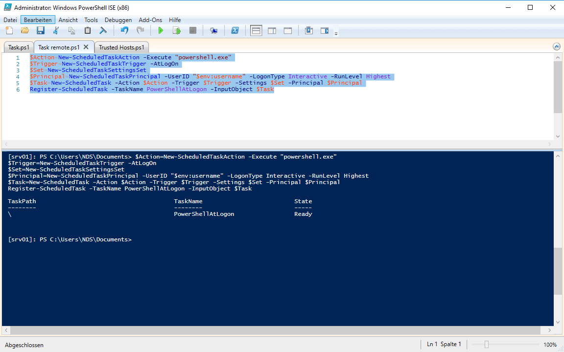 PS Task - Start the Powershell console with every LogOn