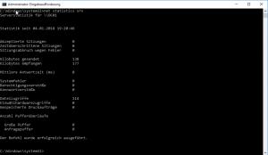 net statistics server