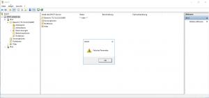 DHCP Server Falscher Parameter