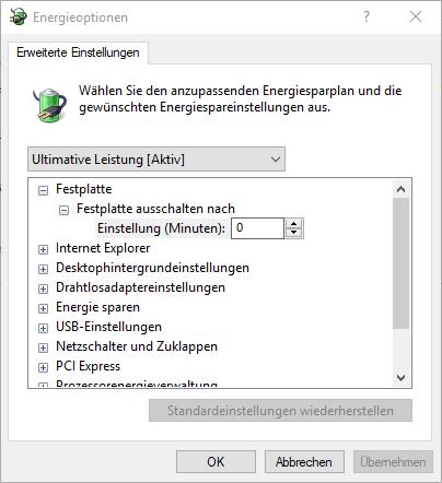 Windows 10 1803 Ultimative Leistung 1