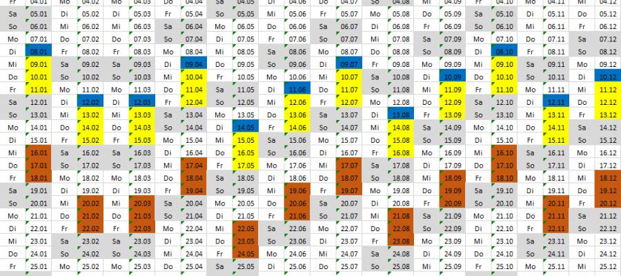 WSUS Kalender Patch