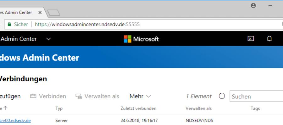 Windows Admin Center Installation deutsch