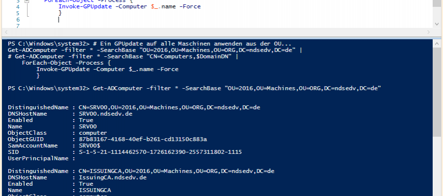 Force Group Policy Update via Powershell - The Windows Pope - IT