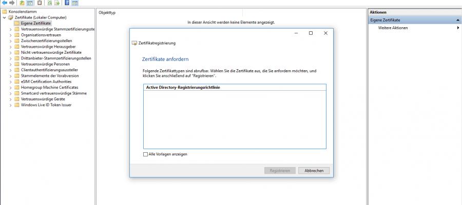 Windows 10 v1803 Enterprise CA Templates