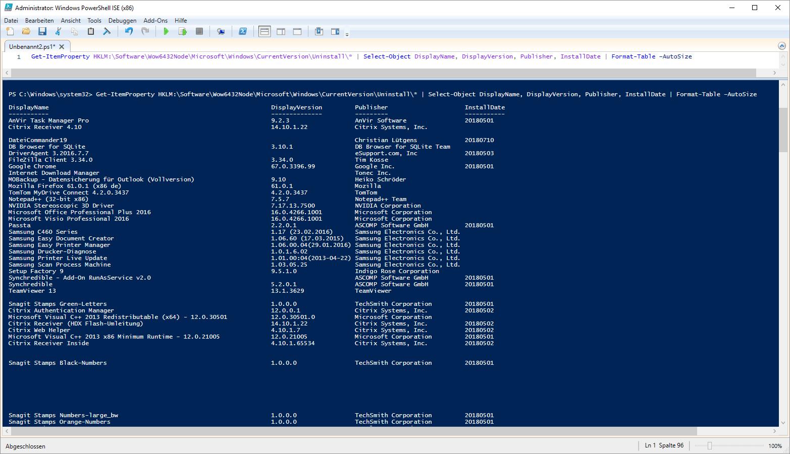 Windows alle installierten Apps anzeigen