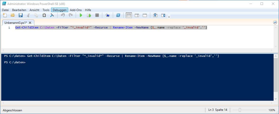 Powershell file replace