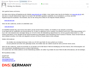 DNS Germany Spam