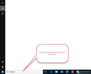 Windows 10 Suche ohne Ergebnisse