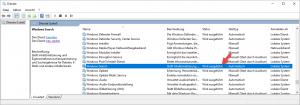 Windows Search aktiviert