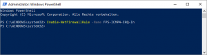 Enable ICMPv4 Powershell