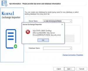MicrosoftODBC SQL Server DriverDBMSLPCN SSL Security error