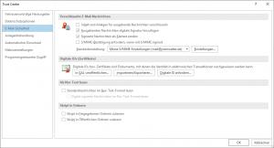 Outlook 2016 Ausgehende Nachrichten digitale Signatur hinzufügen