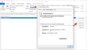 Outlook Kontakt erstellen Zertifikat importieren