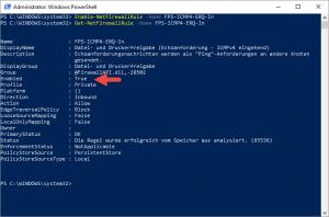 Powershell Check ICMPv4 Firewall