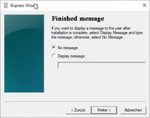 Finished Message